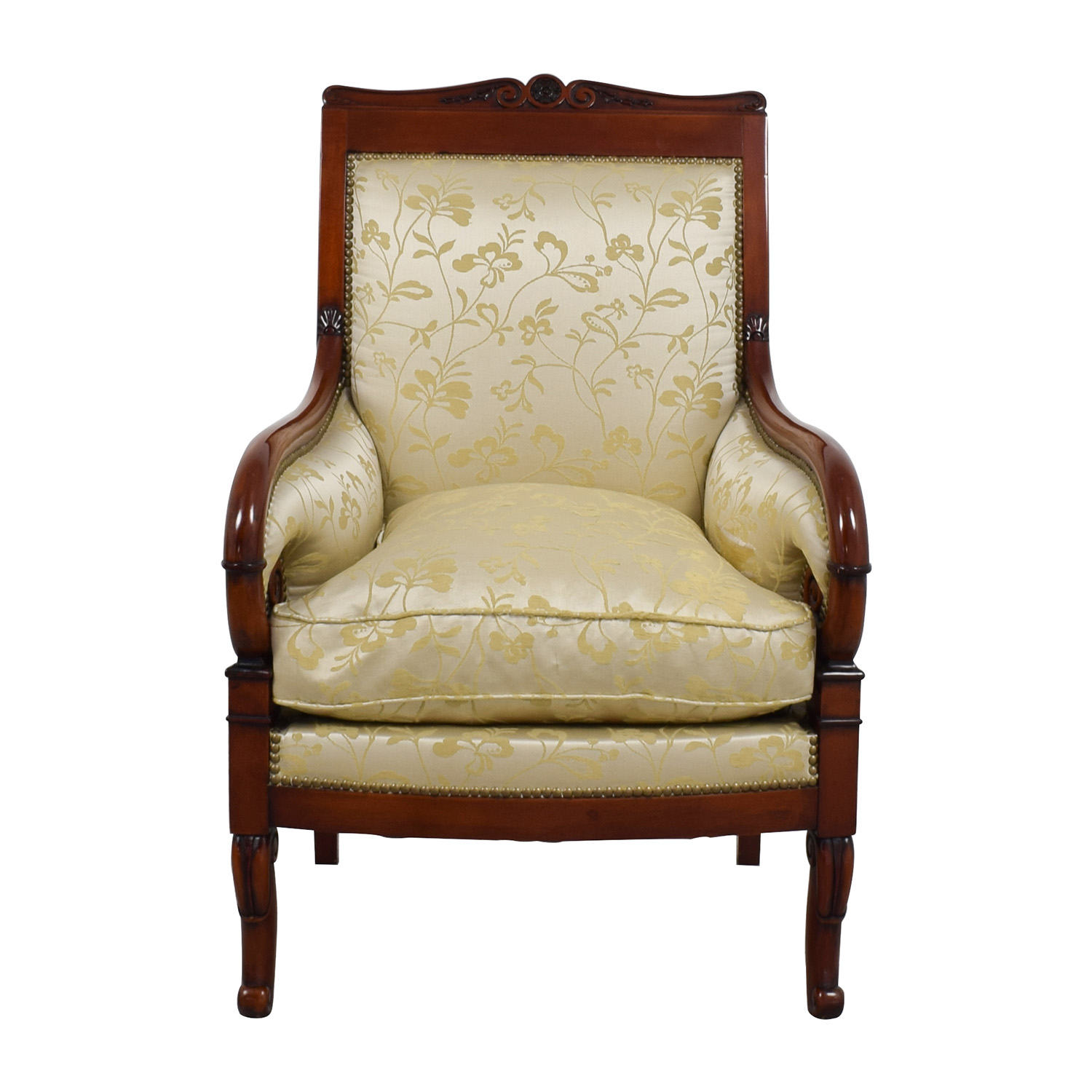 Damask Chair 90 Off Silk Damask Gold Upholstered Chair Chairs