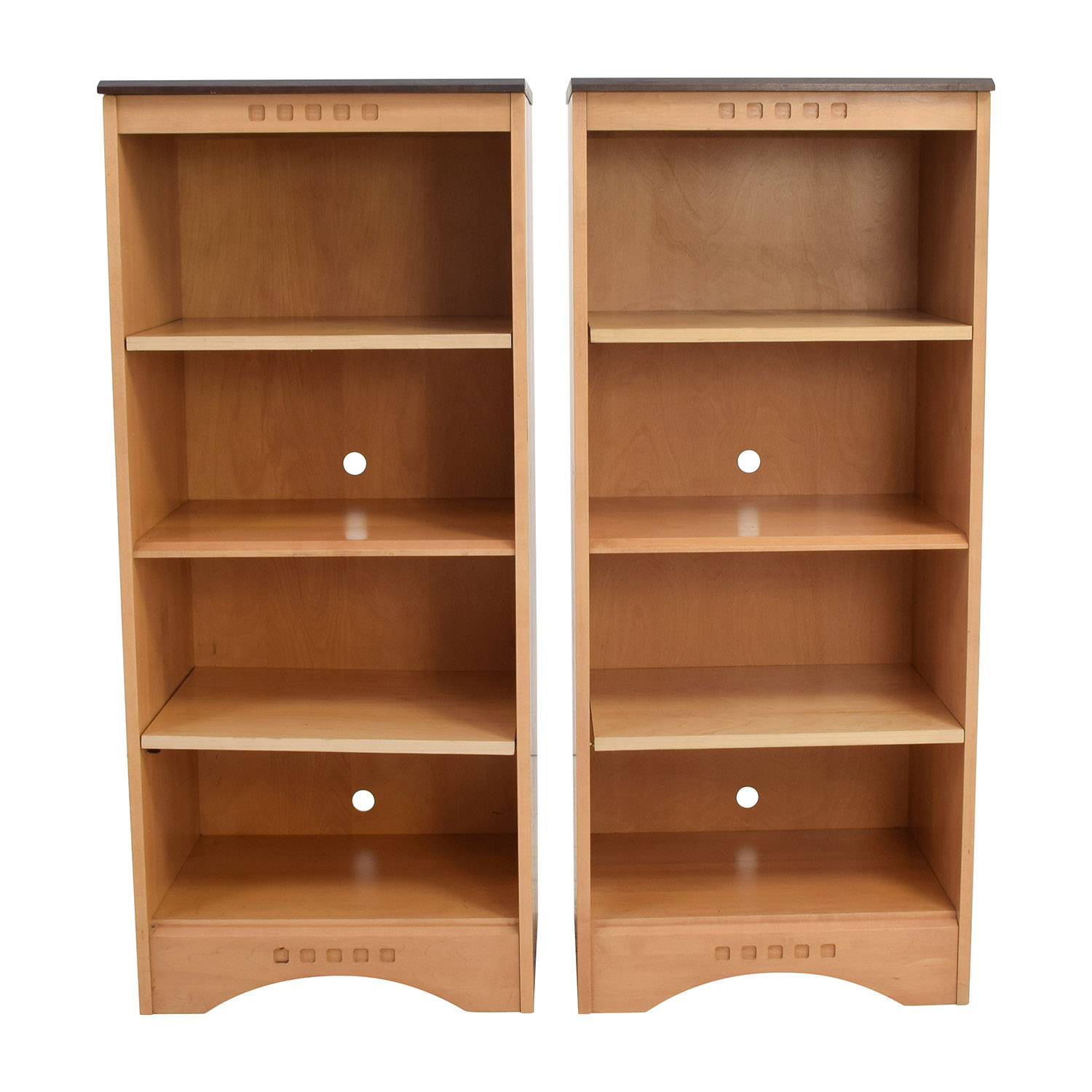 70 Off Baronet Baronet Ungava Wood And Ebony Bookshelves Storage