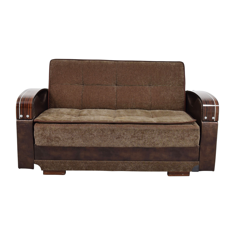 55 off brown futon