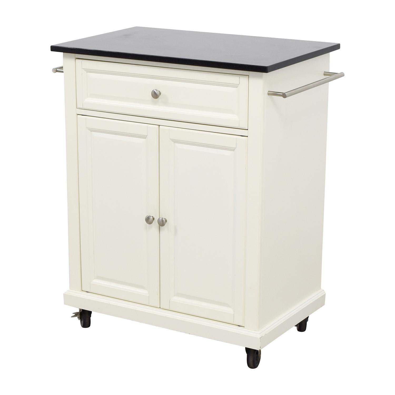 80 Off Crosley Furniture Crosley Furniture White Kitchen Island Counter On Castors Tables