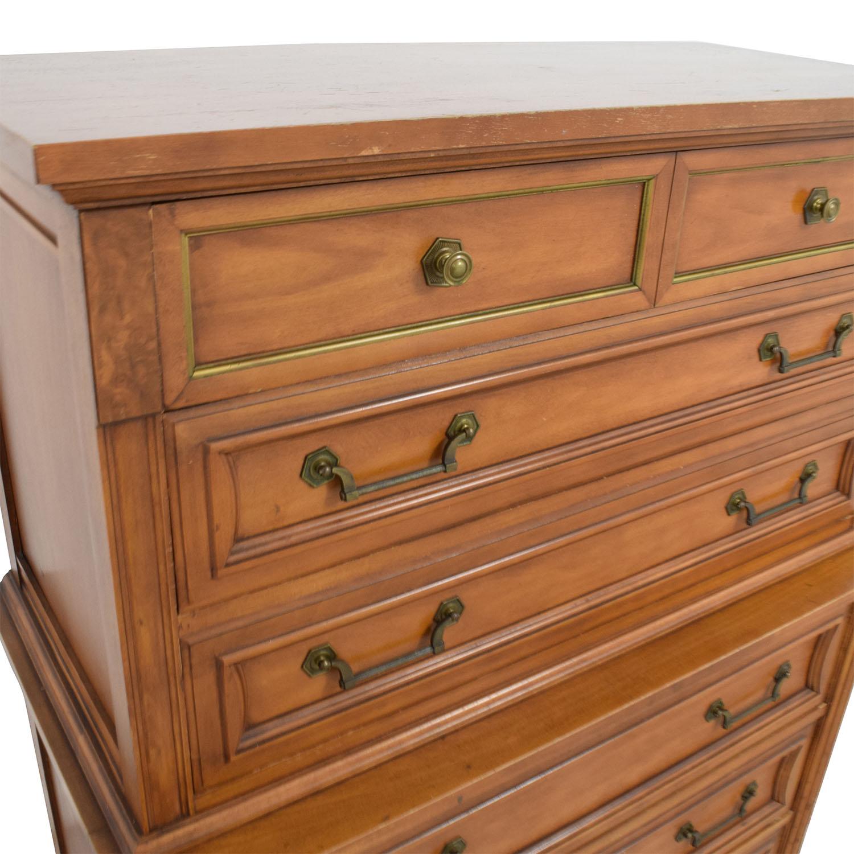 77 off vintage all wood six drawer dresser storage