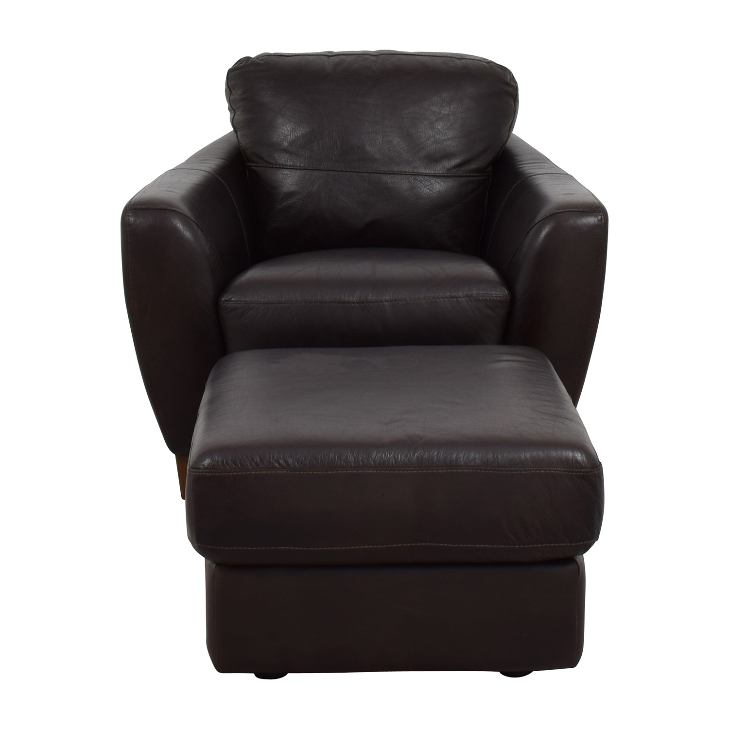 Brown Leather Chairs 64 Off Sofaitalia Sofitalia Dark Brown Leather Armchair And Ottoman Chairs
