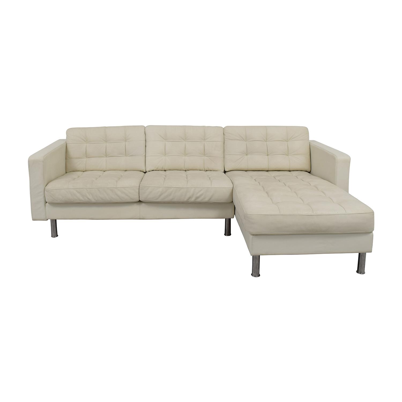 69 off ikea ikea landskrona leather sectional sofas