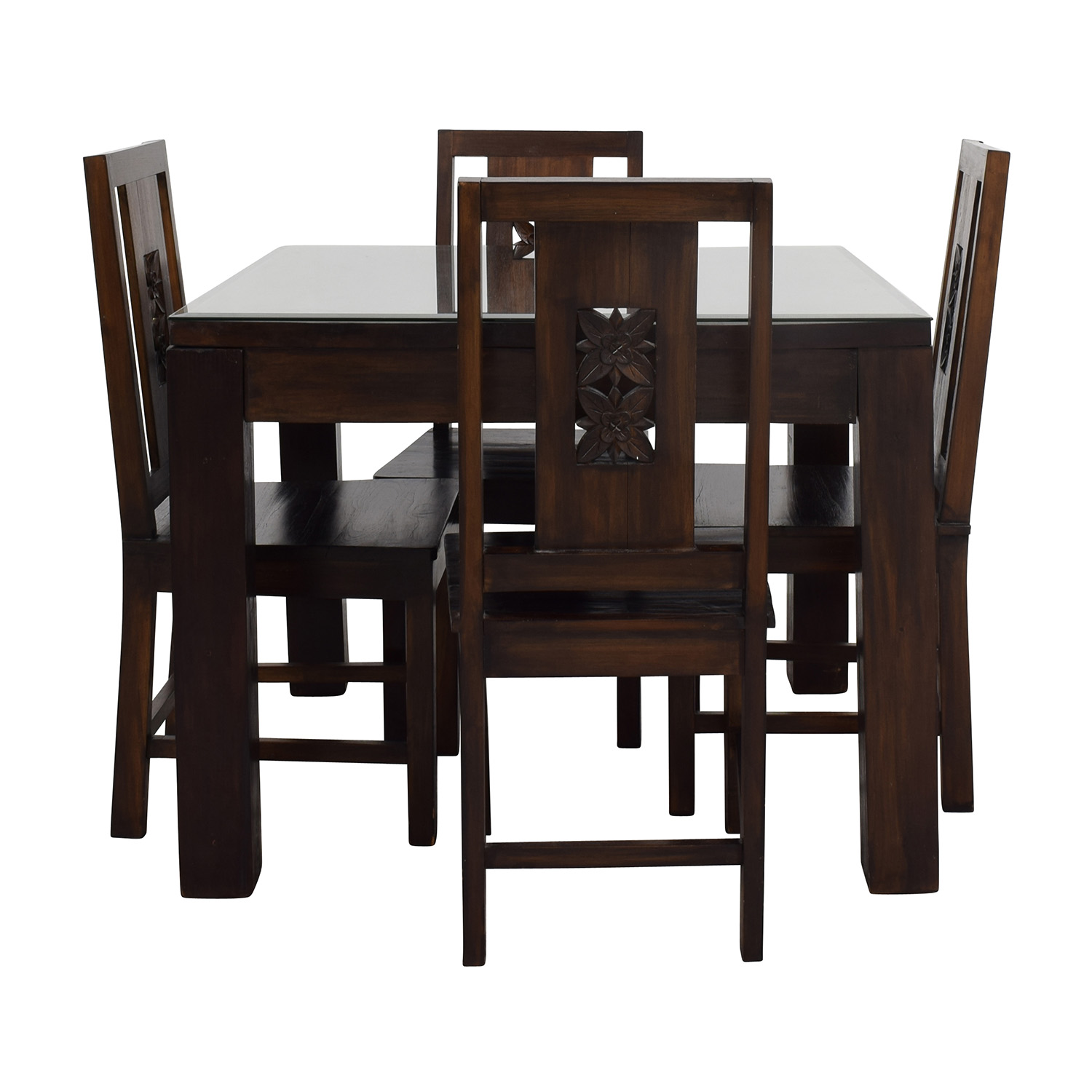 Teak Dining Room Chairs 90 Off Balinese Teak Dining Table Set Tables