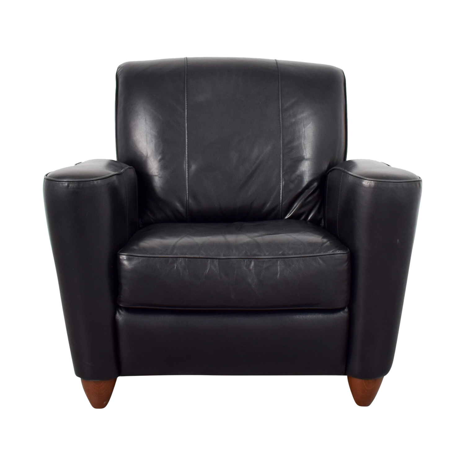 76 OFF  Leather Library Reading Chair  Chairs