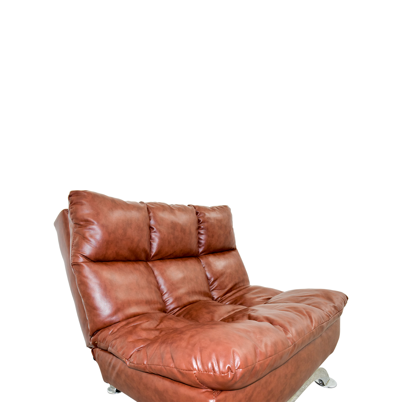 56 Off Wayfair Wayfair Love Brown Leather Tufted Reclining Chair Chairs