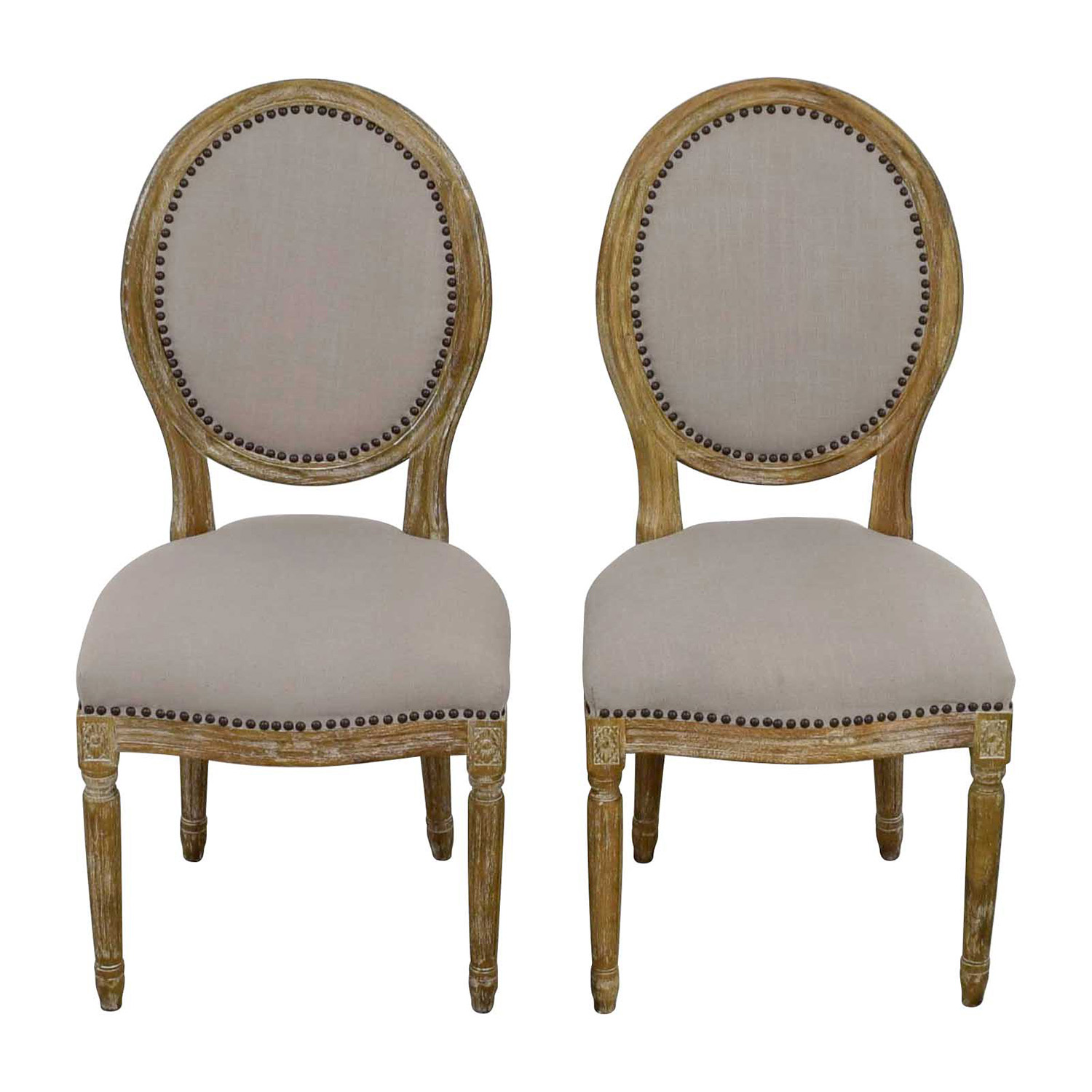 Studio Chairs 49 Off Baxton Studio Baxton Studio Clairette Traditional French Round Chair Chairs
