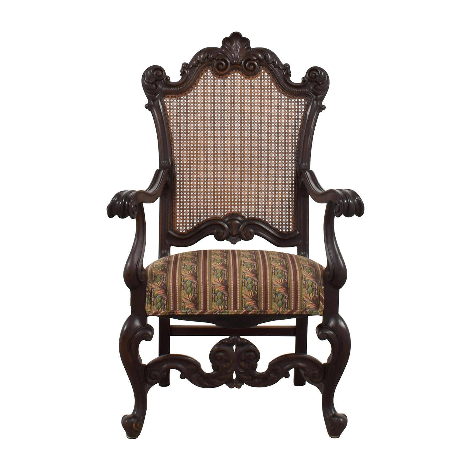 Antique Accent Chairs 89 Off Antique Accent Chair With Hole Caning Back Chairs