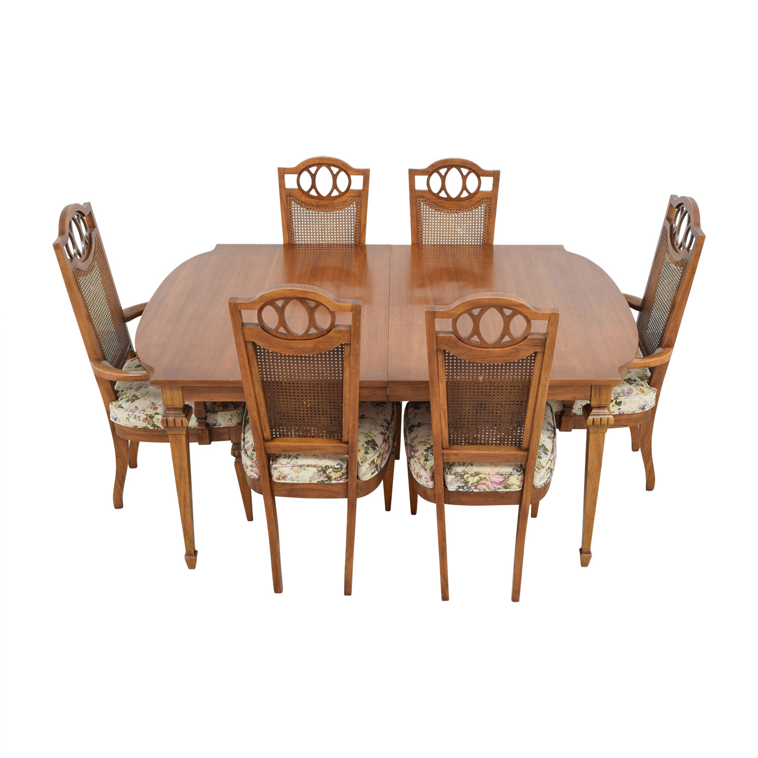 Italian Dining Chairs 90 Off Italian Dining Set With Leaf Extensions And Floral Upholstered Chairs Tables