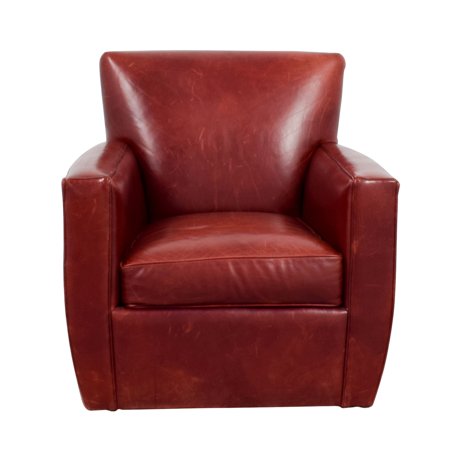 Red Leather Swivel Chair 79 Off Crate Barrel Crate Barrel Leather Swivel Chair Chairs