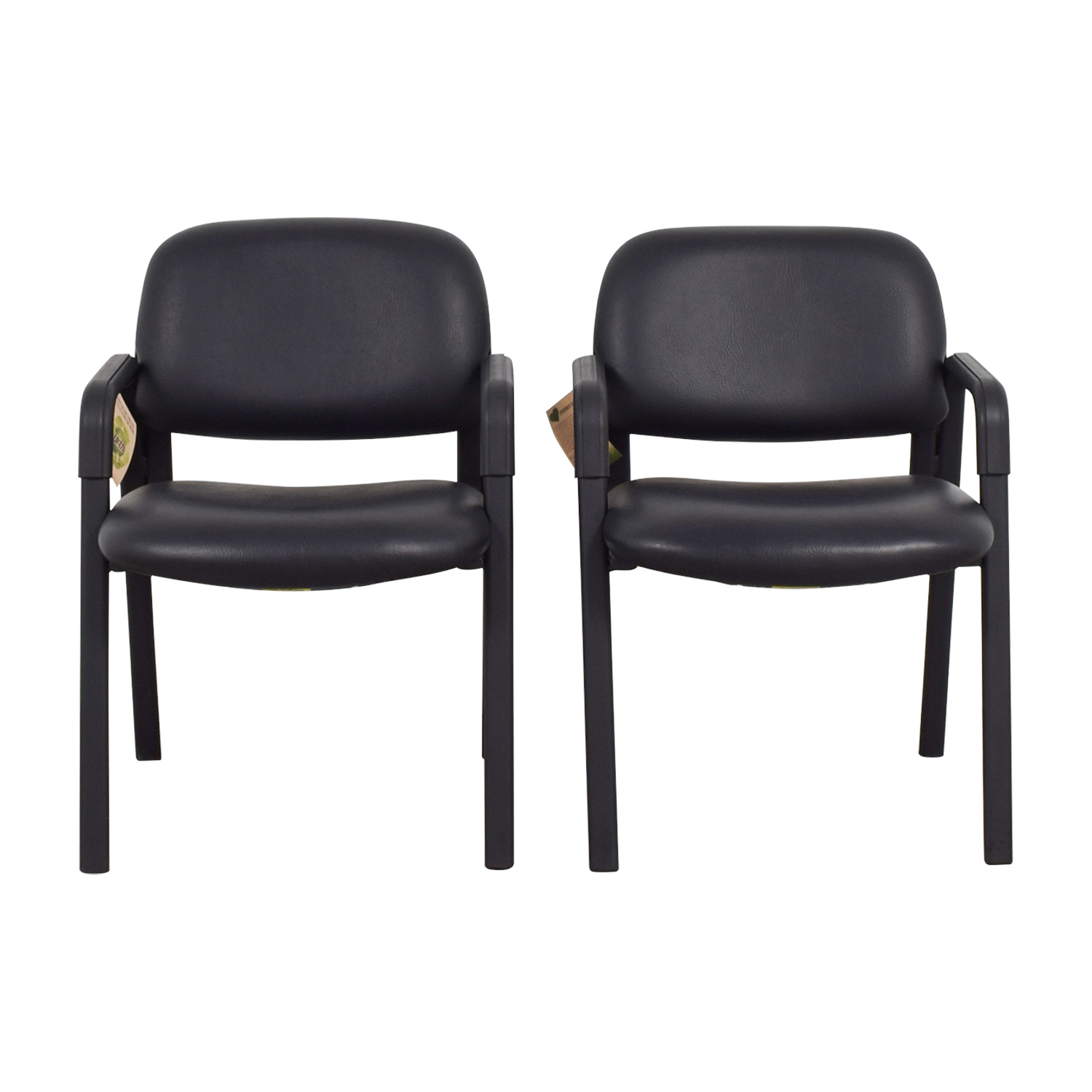 Discount Leather Chairs 90 Off Safco Urth Cava Black Leather Chairs Chairs
