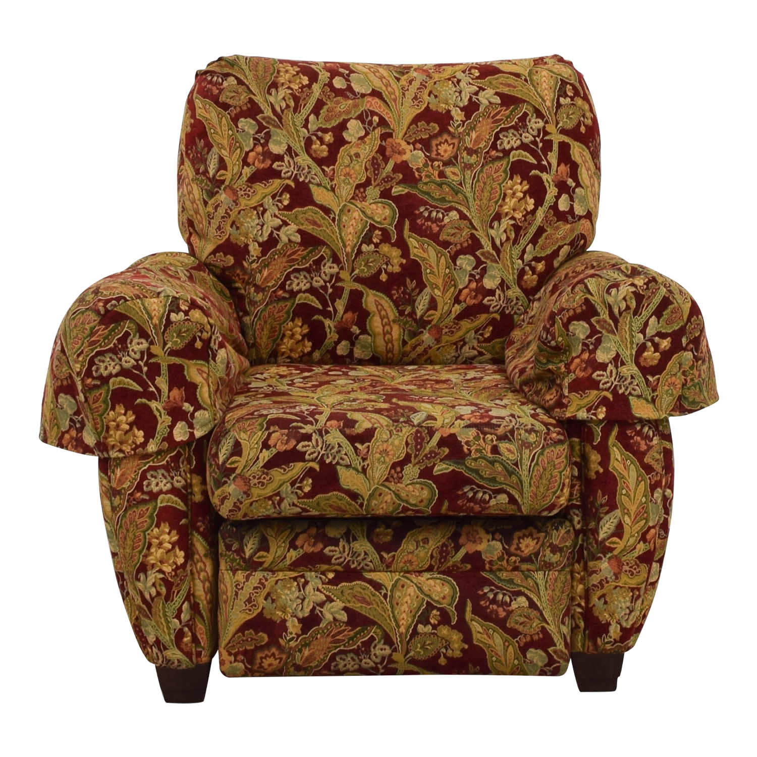 Lazy Boy Sleeper Chair 84 Off La Z Boy Lazy Boy Burgundy Floral Recliner Chairs