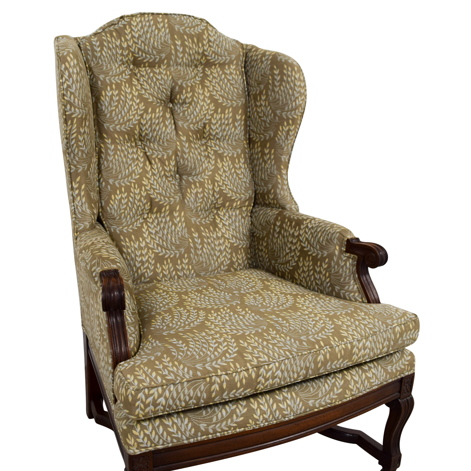 Vintage Accent Chair 77 Off Hickory Chair Hickory Olive Vintage Accent Chair Chairs