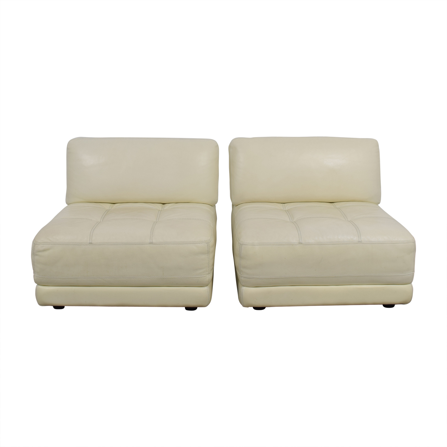 Macys Leather Chair 90 Off Macy S Macy S Modulara White Leather Chairs Chairs