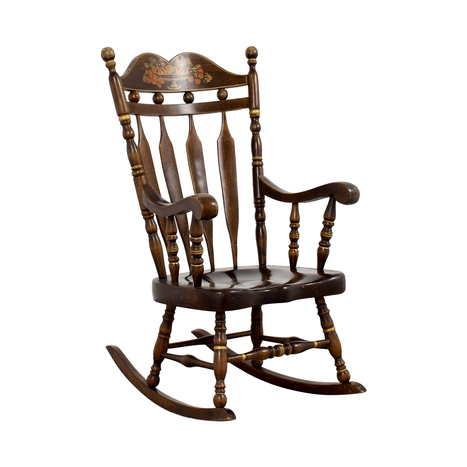 90 OFF  Wood Rocking Chair  Chairs