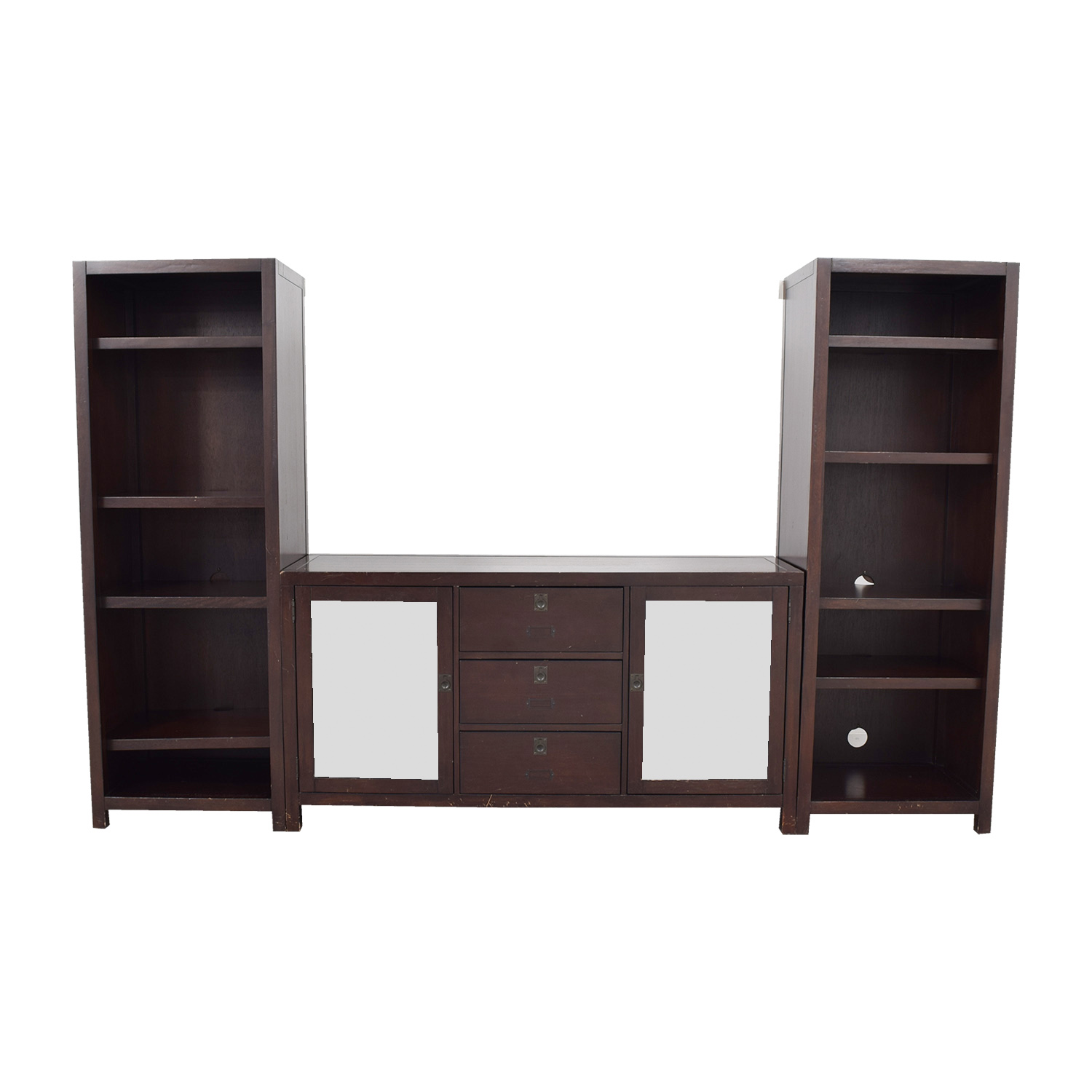 90 off pottery barn pottery barn rhys media console storage