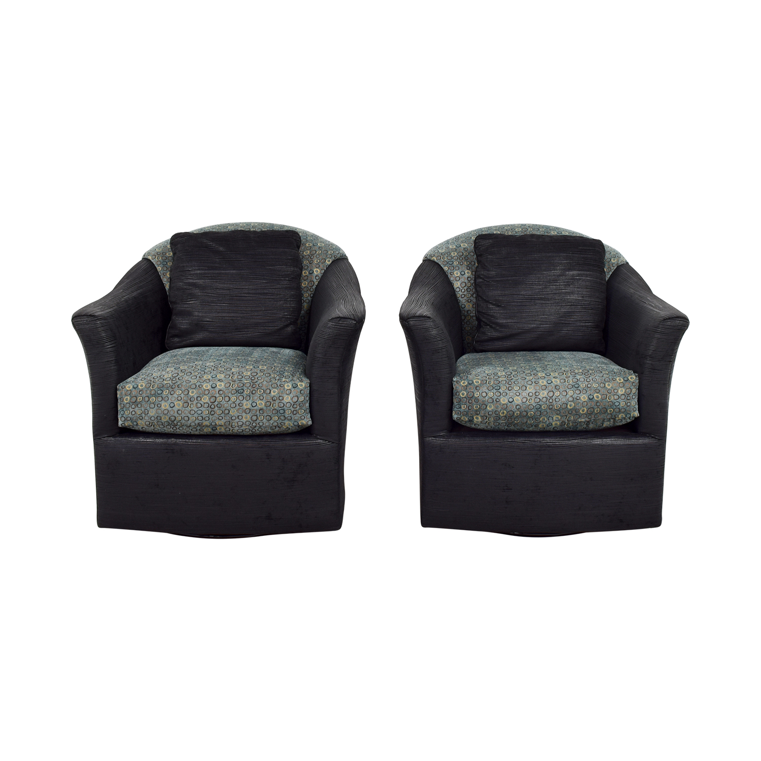 Fairfield Chairs 90 Off Fairfield Chair Company Fairfield Barrel Black Blue And