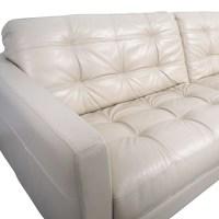 48 OFF   Macy&39;s Macy&39;s White Leather Tufted Sofa / Sofas