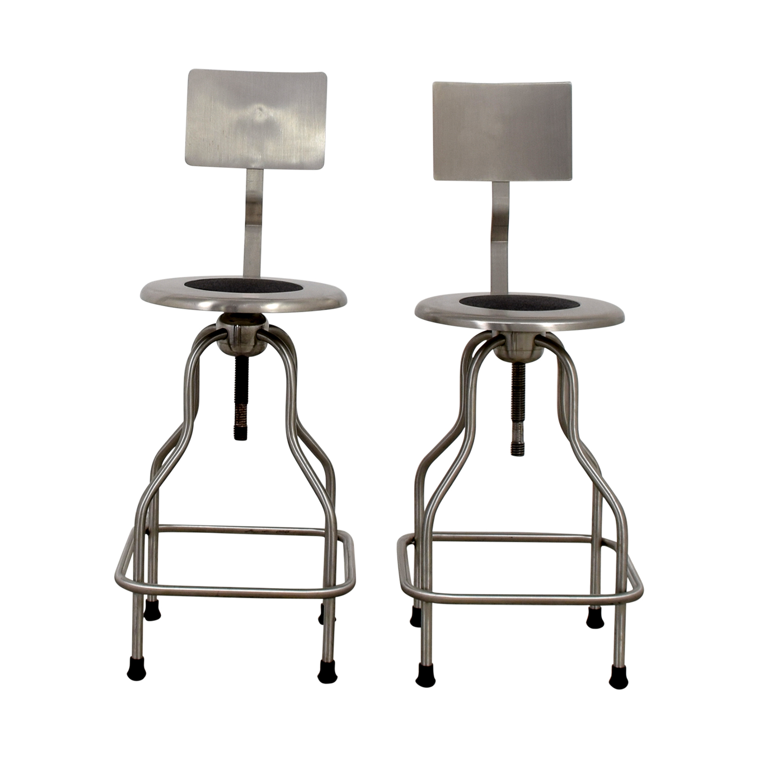 67 off design within reach design within reach steel precision stools with back rest chairs