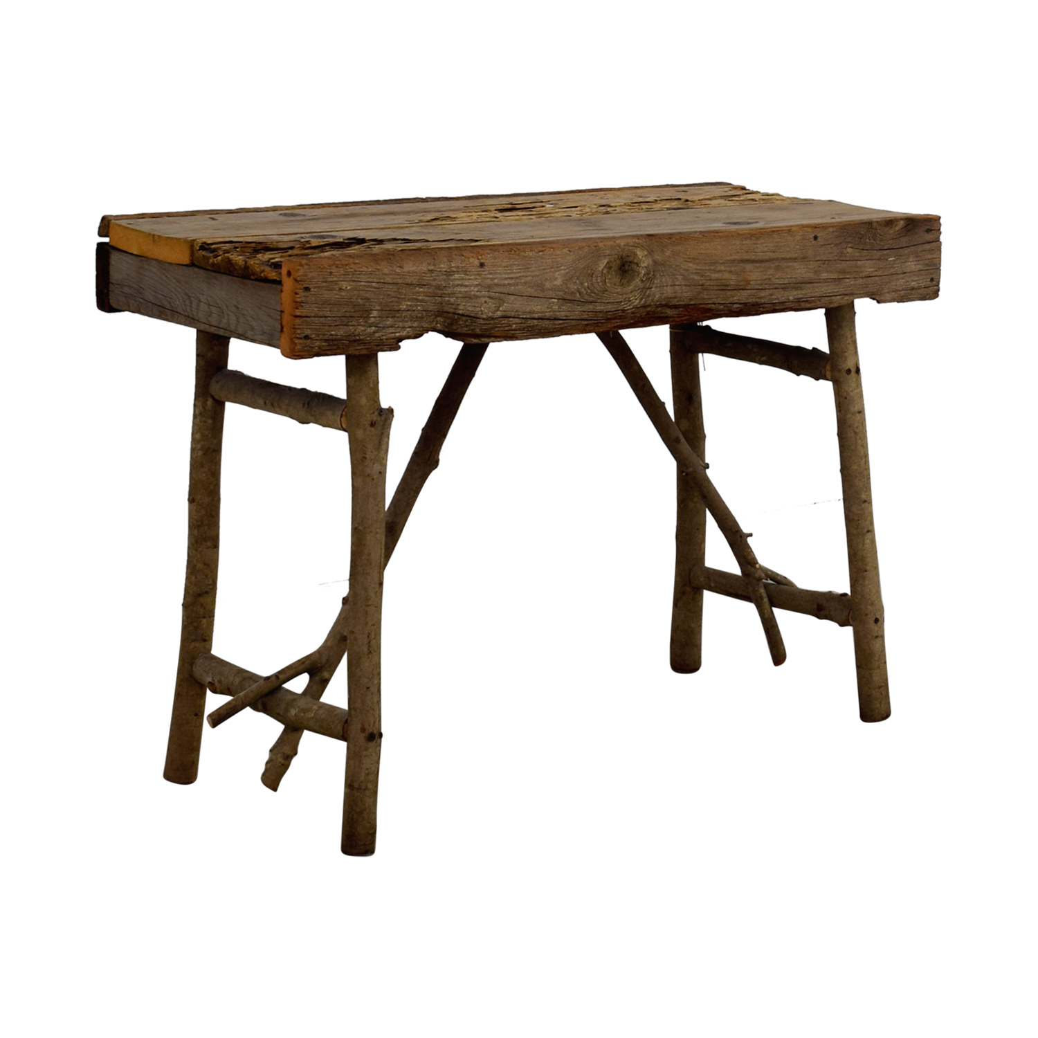 74 Off Pier 1 Pier 1 Imports Rustic Wood Tv Table Tables