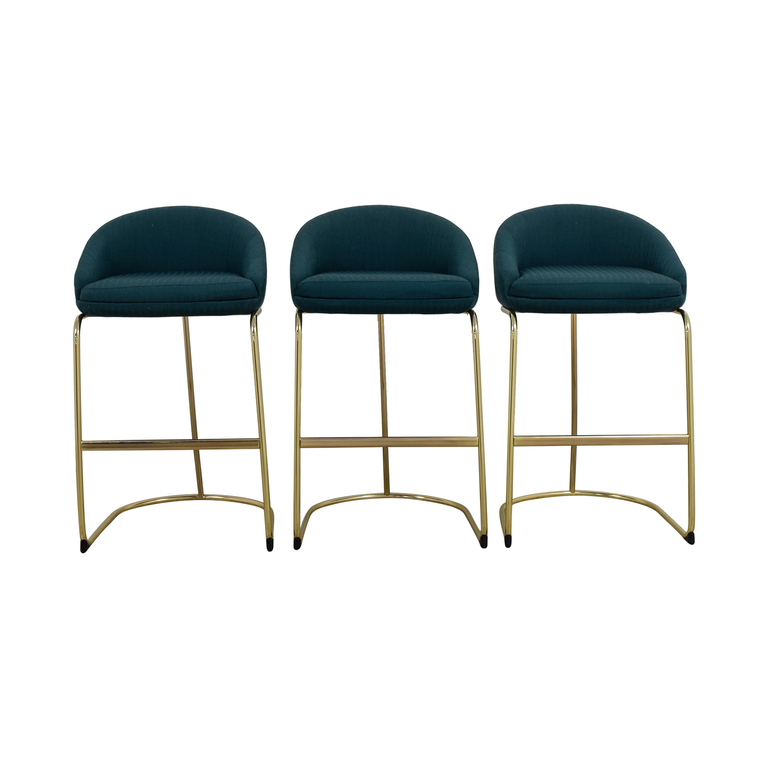 Upholstered Bar Chairs 57 Off Vintage Teal Upholstered Bar Stools Chairs