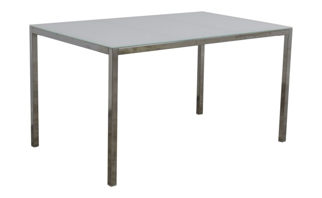84 Off Ikea Ikea White Glass Top Dining Table Tables