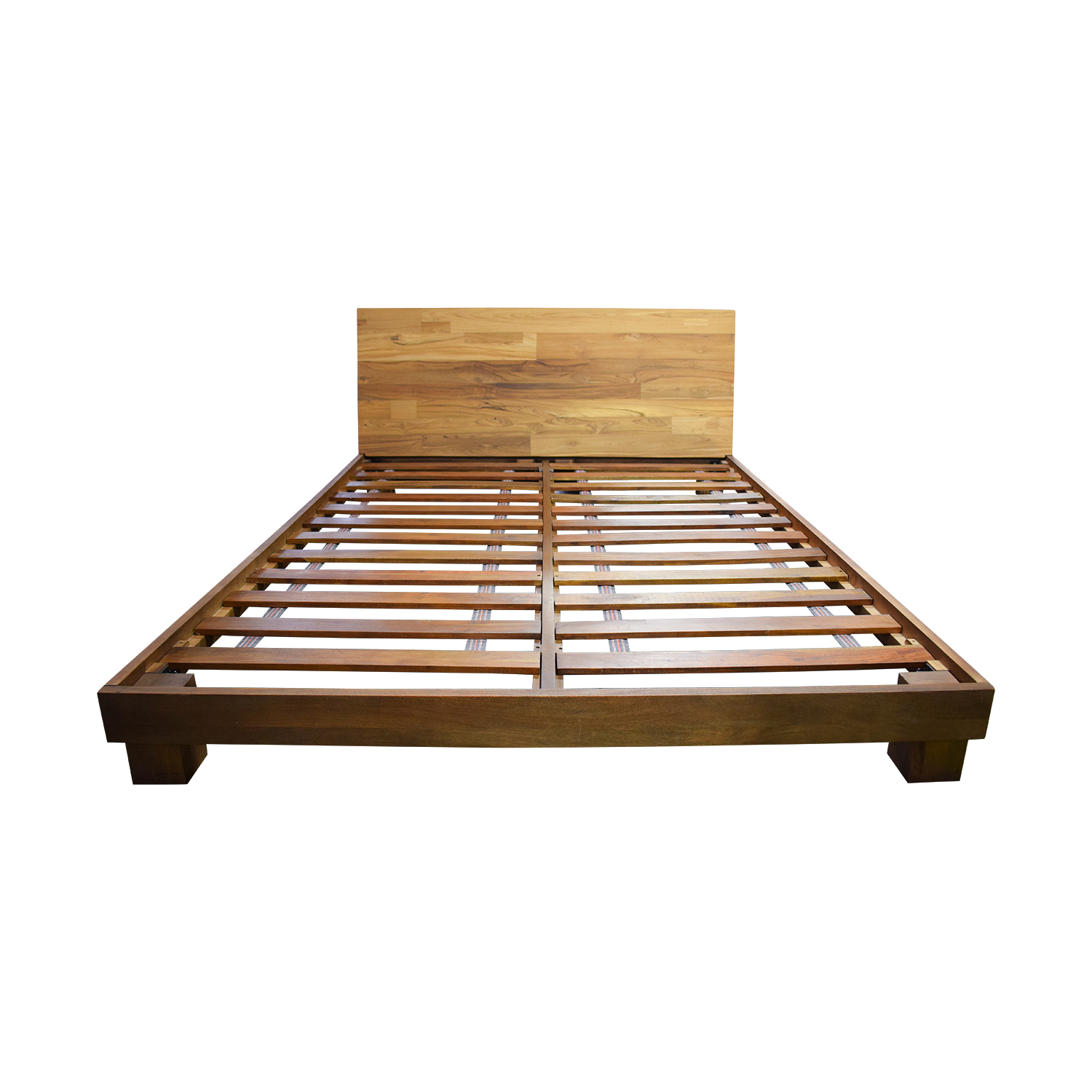 56 Off Cb2 Cb2 Dondra Teak Platform Queen Bed Frame Beds