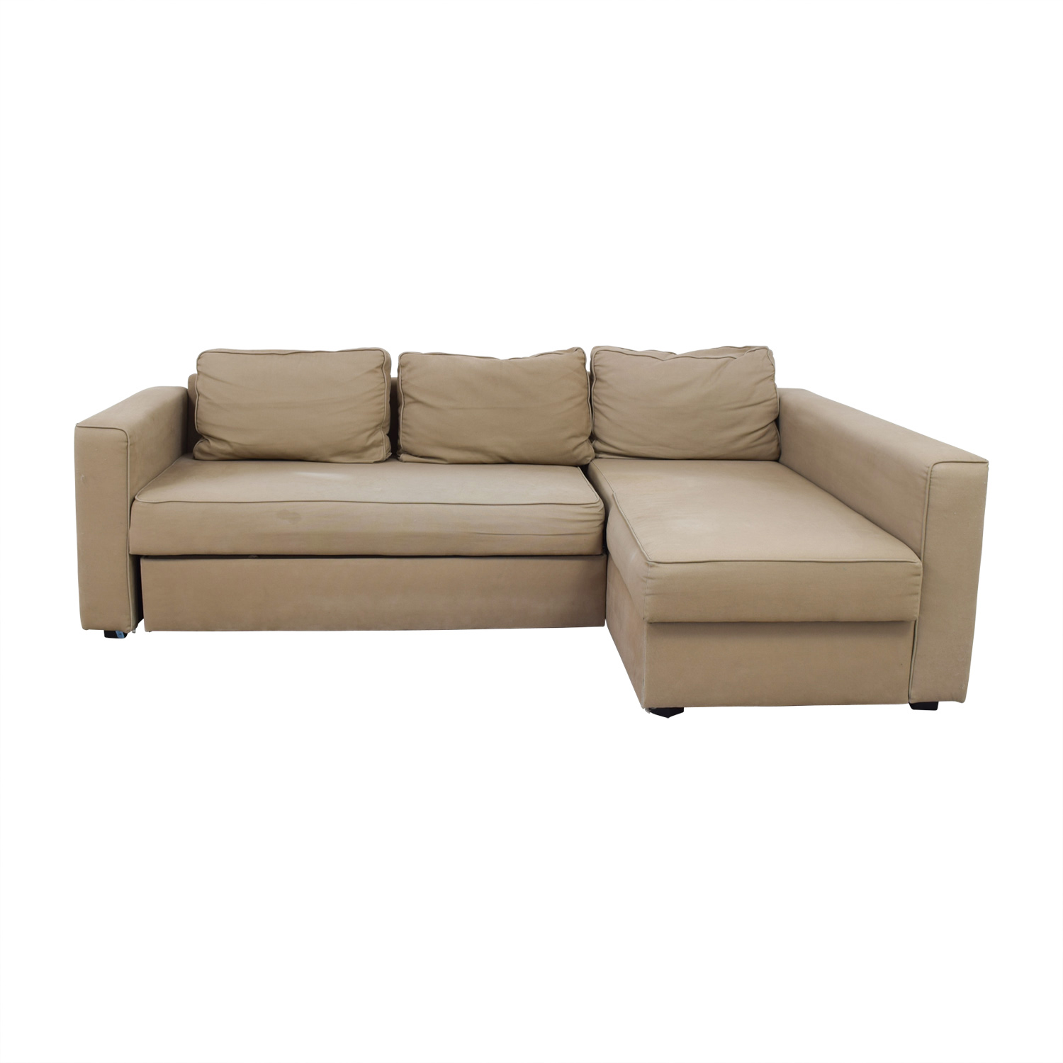 62 off ikea ikea manstad sectional sofa bed with storage sofas