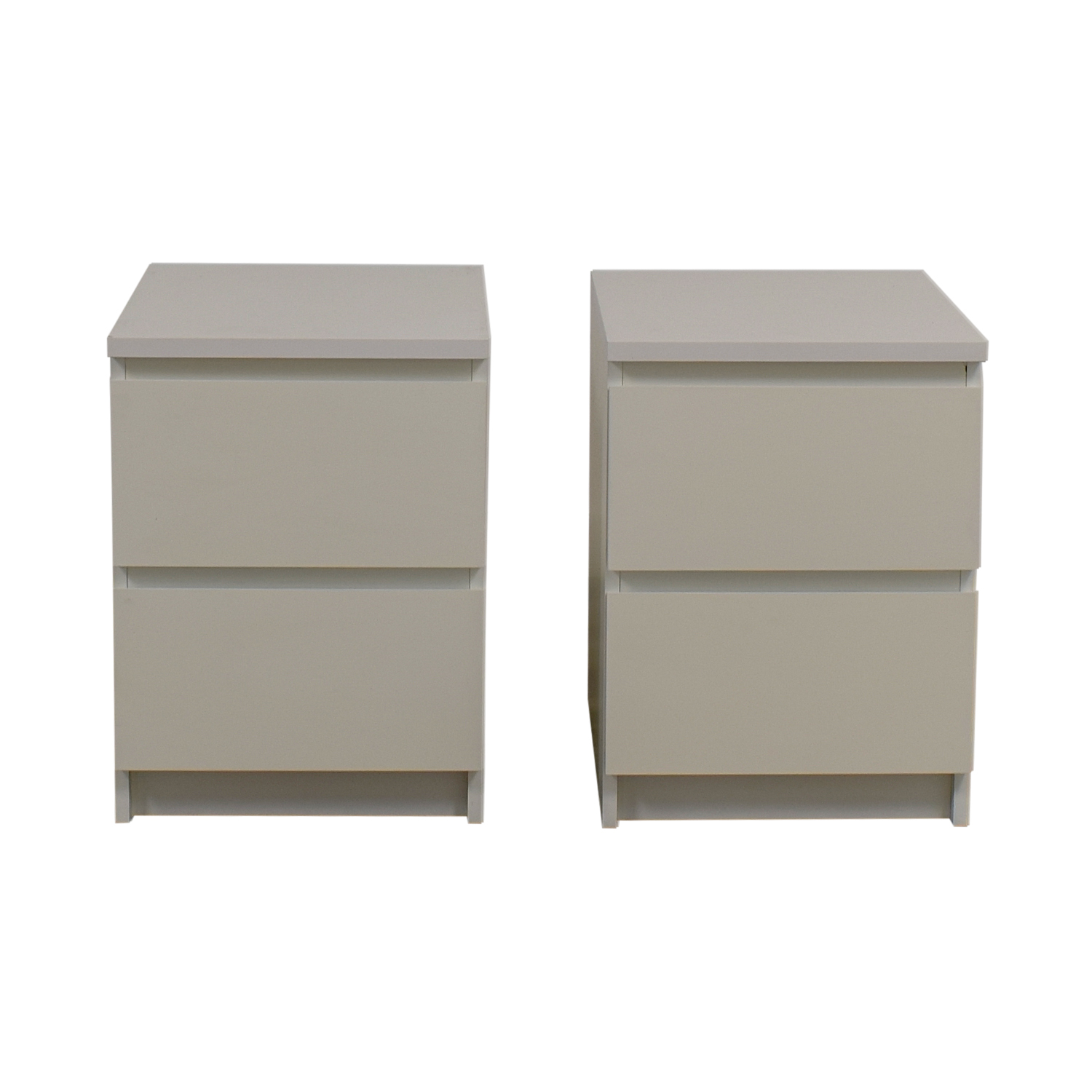 53 Off Ikea Ikea Malm Two Drawer White End Tables Tables