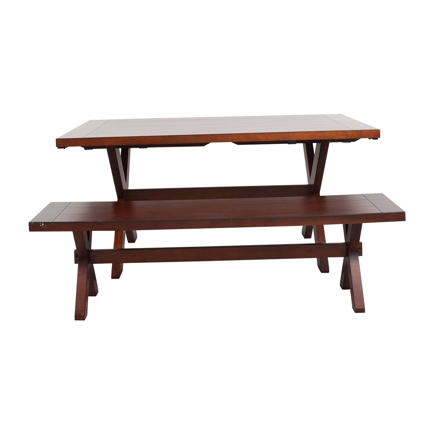 90 off pier 1 pier 1 imports nolan wood dining table with bench tables