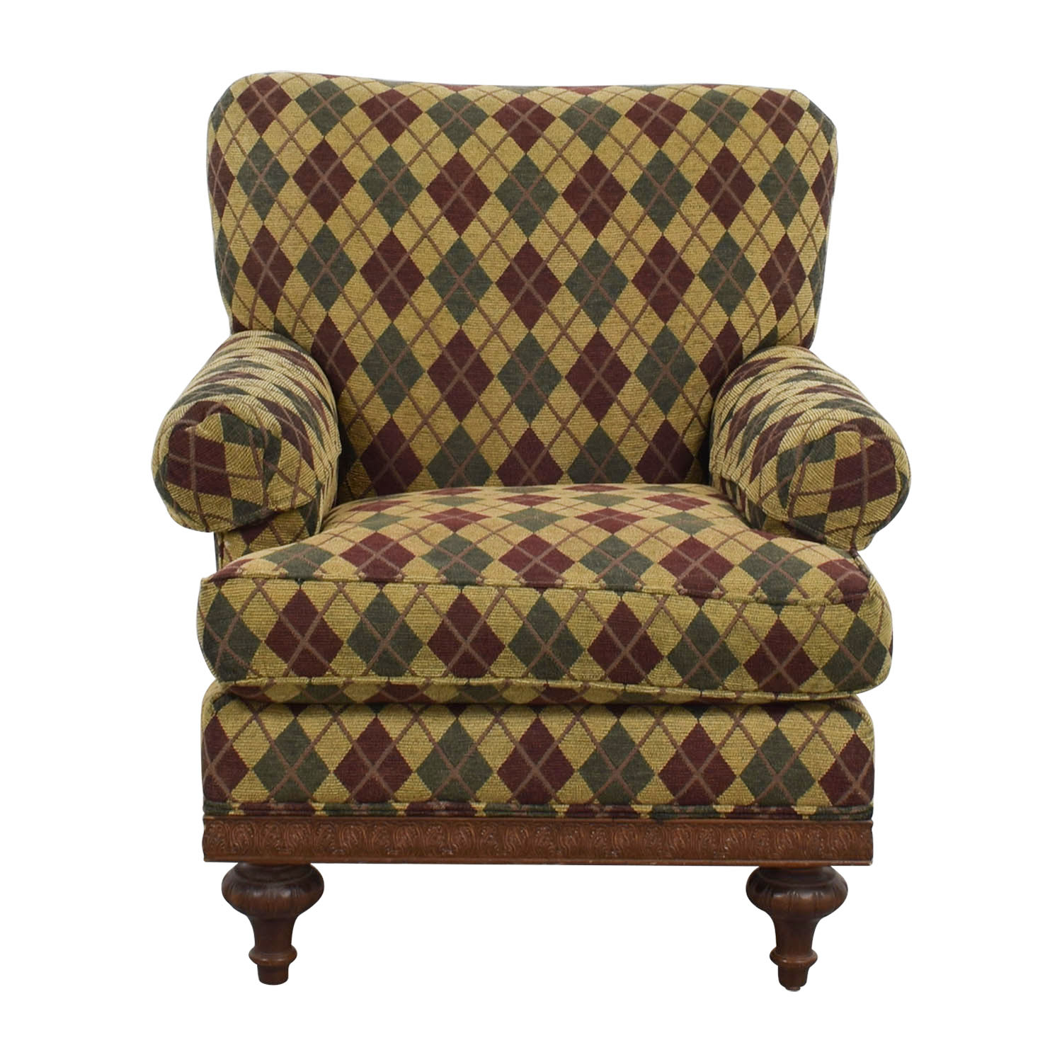 Upholstered Arm Chairs 80 Off Domain Home Argyle Upholstered Arm Chair Chairs