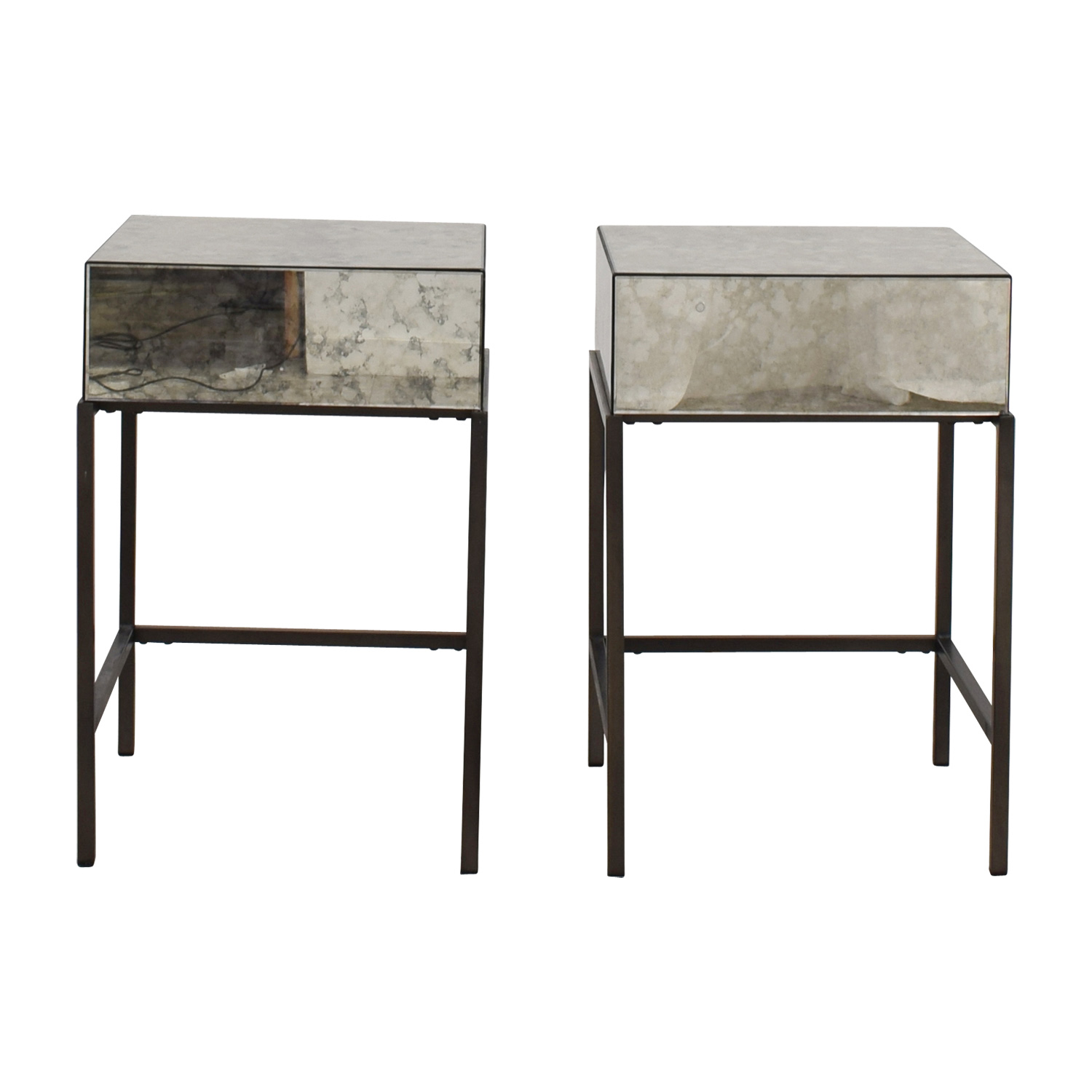 41 Off West Elm West Elm Foxed Mirror Single Drawer Nightstands Tables