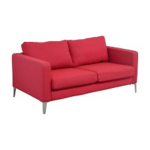 81 - Ikea Red Two-cushion Love Seat Sofas