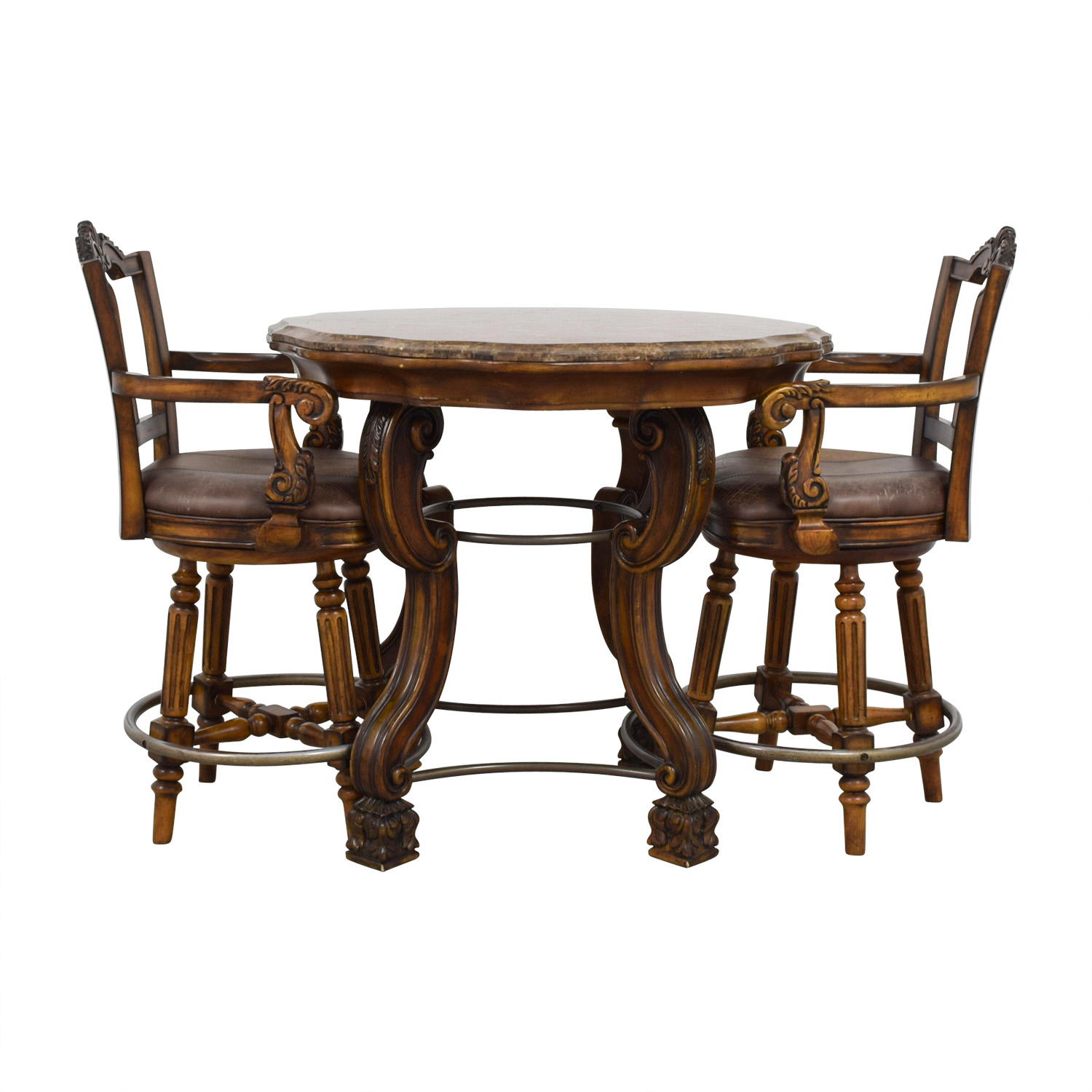 Ashley Chairs 90 Off Ashley Furniture Ashley Furniture Faux Marble Pub Table And Chairs Tables