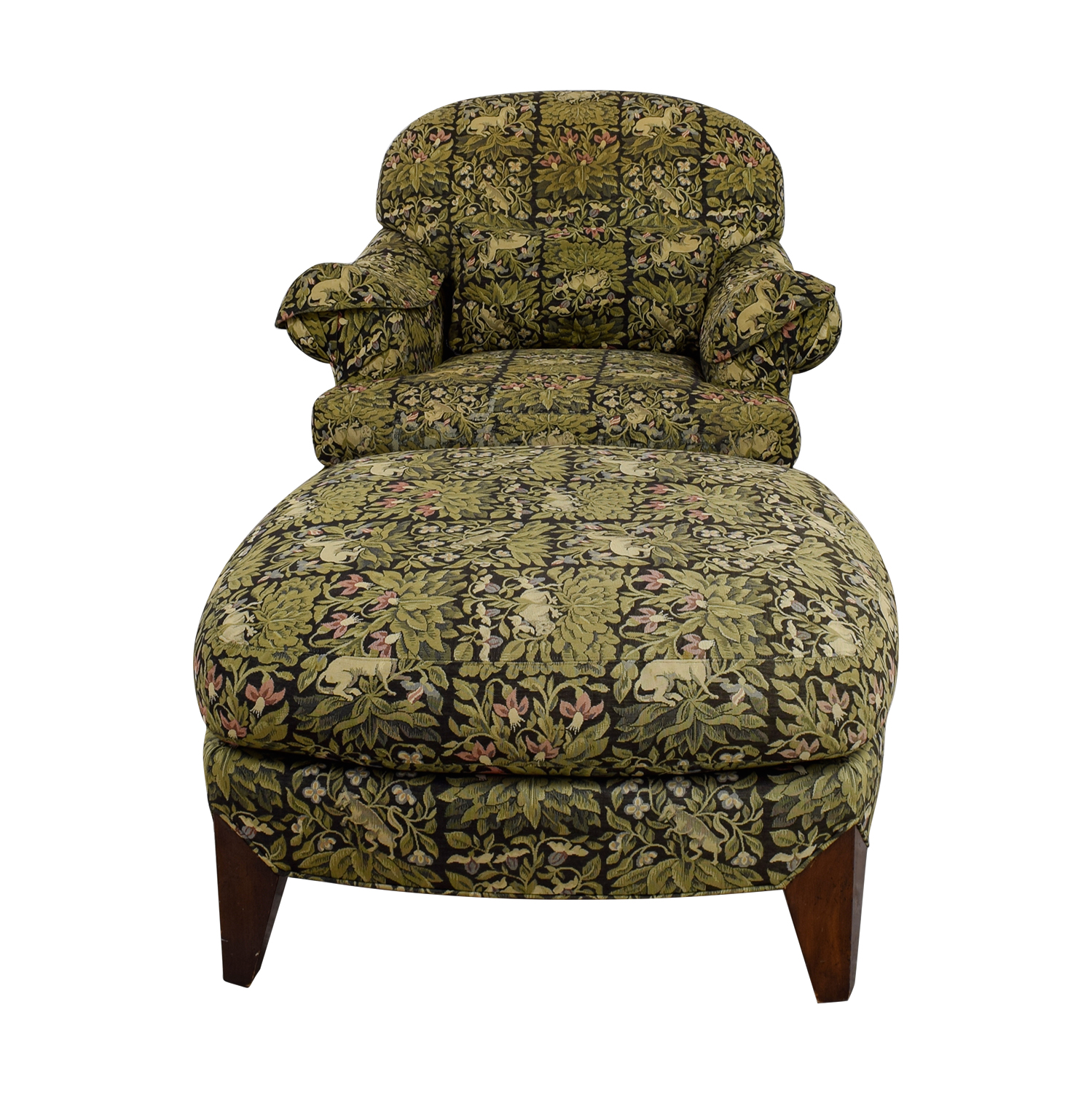 Henredon Chair 90 Off Henredon Furniture Henredon Upholstered Floral Chair And