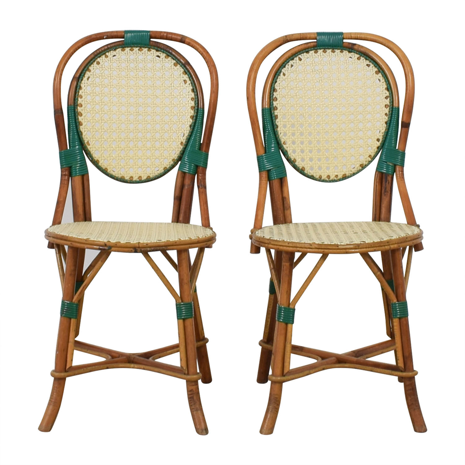 Outdoor French Bistro Chairs 68 Off Genuine Vintage Cane French Bistro Chairs Chairs