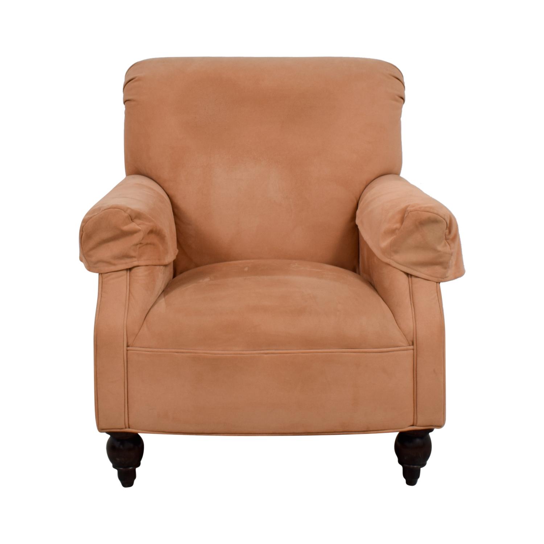 90 OFF  Devon Microfiber Salmon Accent Chair  Chairs
