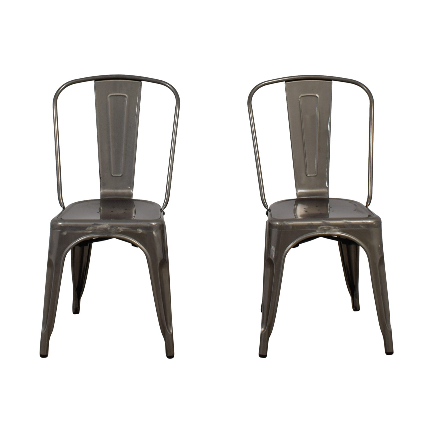 90 Off Brushed Metal Bistro Chairs Chairs