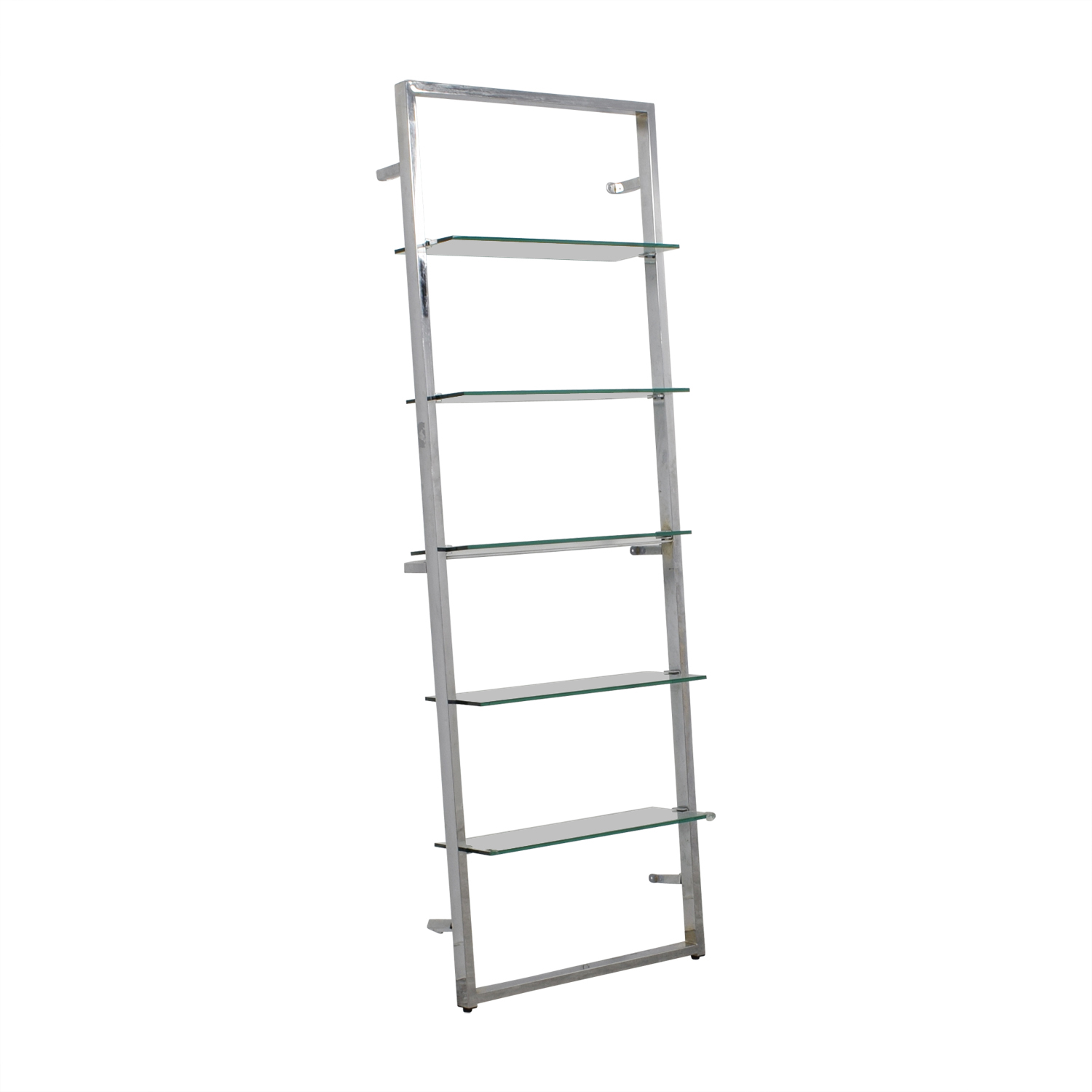 79 Off Cb2 Cb2 Tesso Chrome And Glass Wall Mounted Bookcase Storage