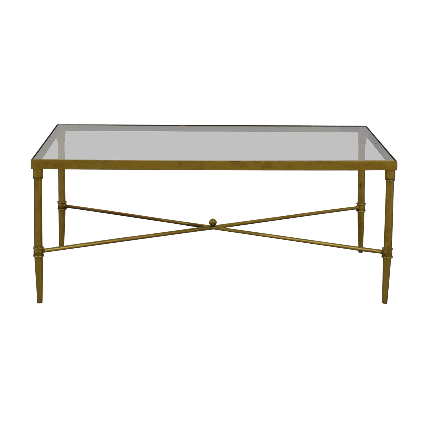 74 off madison park fadden rectangular glass and gold coffee table tables