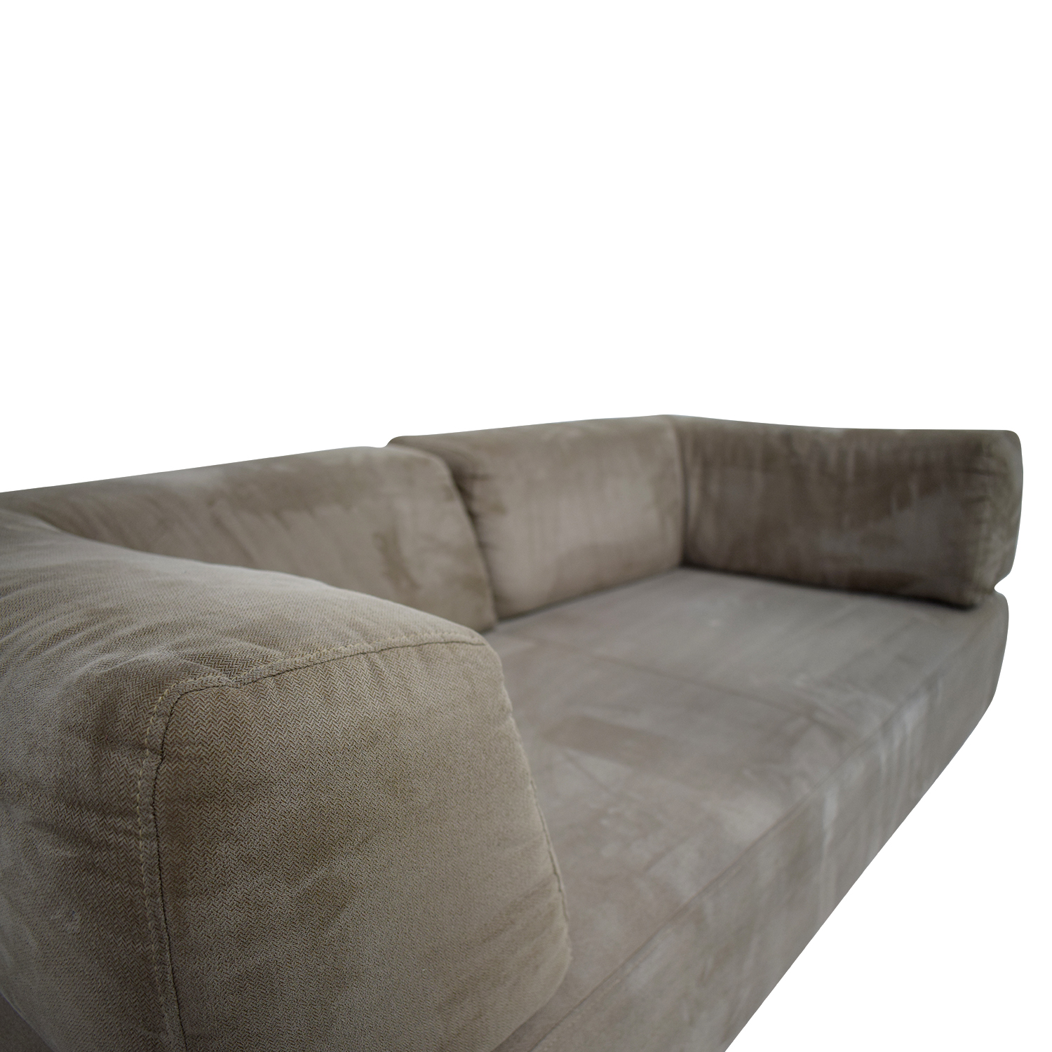 61 off west elm west elm beige sofa with removable back cushions sofas