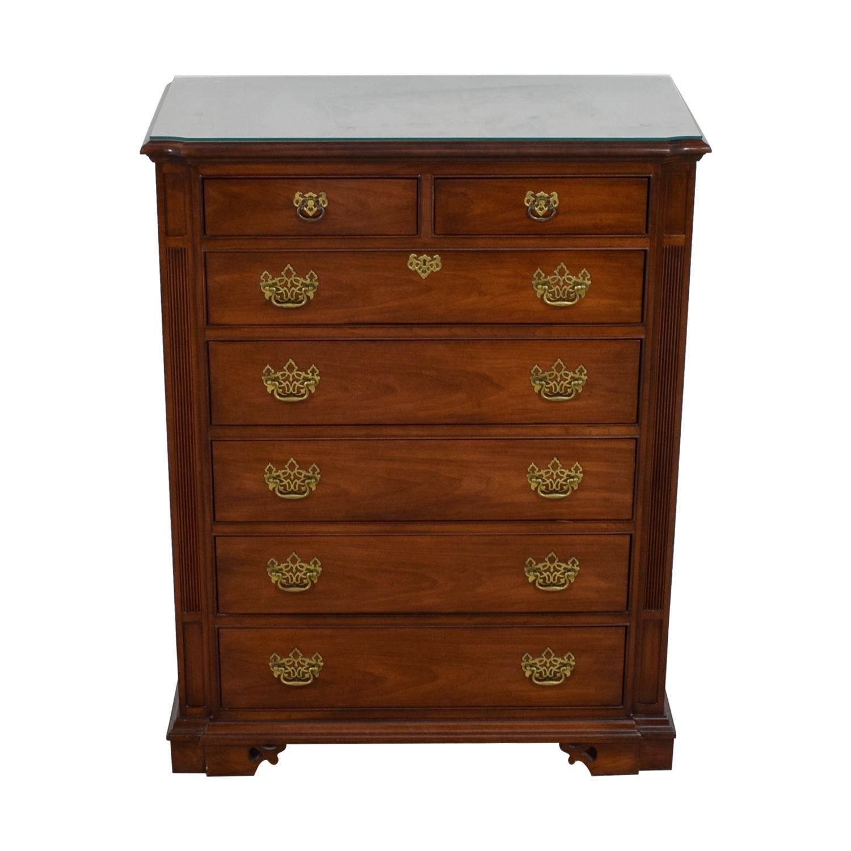 85 off thomasville thomasville cherry wood seven drawer tall boy dresser storage