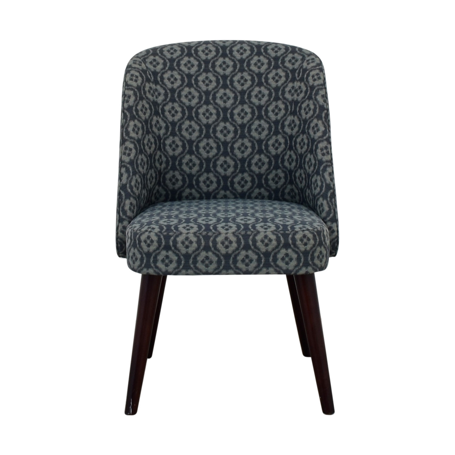Blue Patterned Chair 83 Off Patterned Blue Accent Chair Chairs