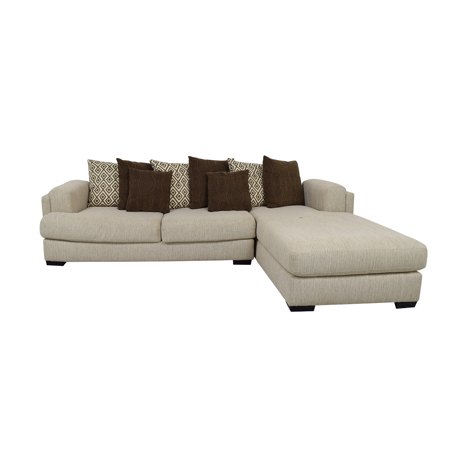 87 off raymour flanigan raymour flanigan urbanity beige chaise sectional sofas