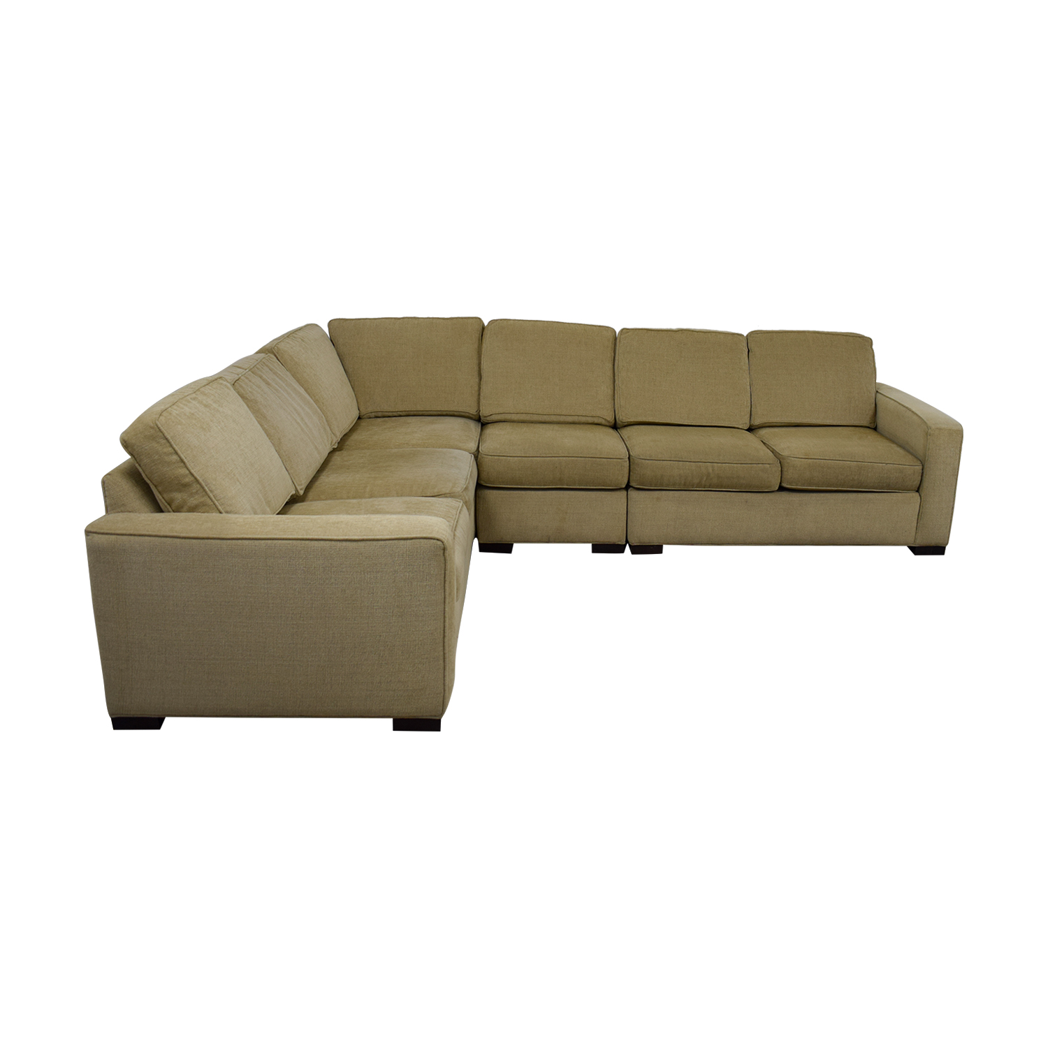87 off ethan allen ethan allen tan sectional couch sofas