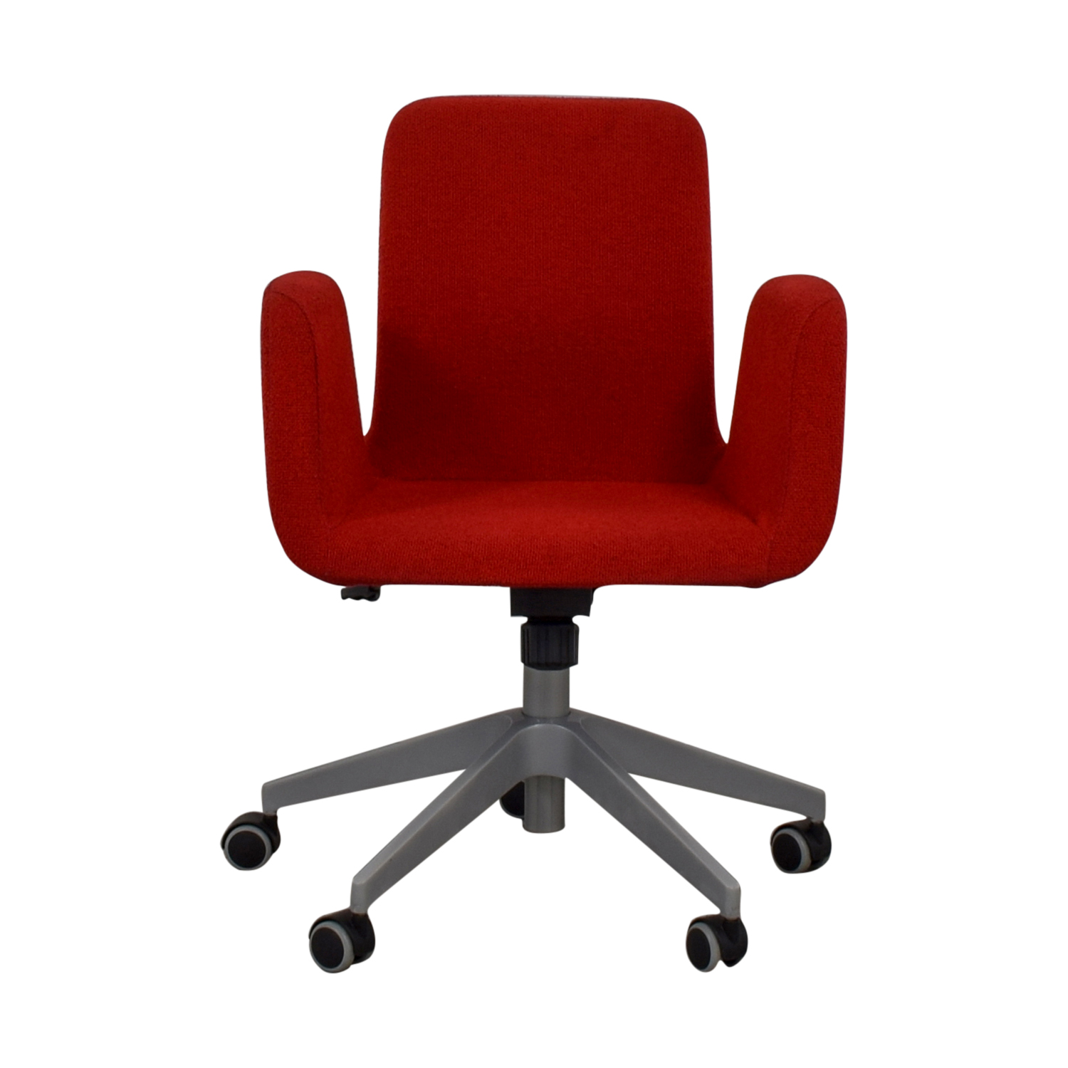Red Desk Chair 79 Off Ikea Ikea Patrik Red Rolling Desk Chair Chairs