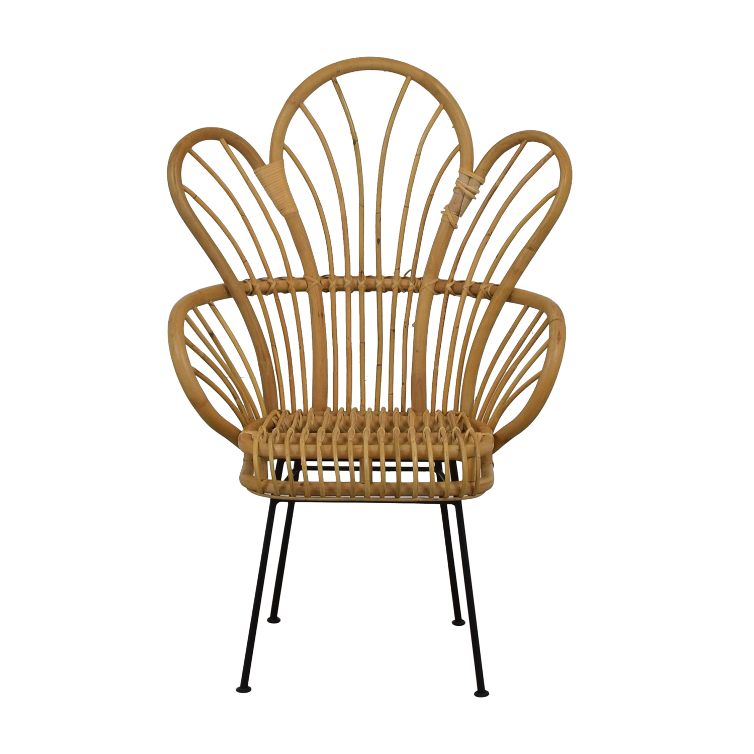 Bamboo Chairs 76 Off Bamboo Bohemian Fan Accent Chair Chairs