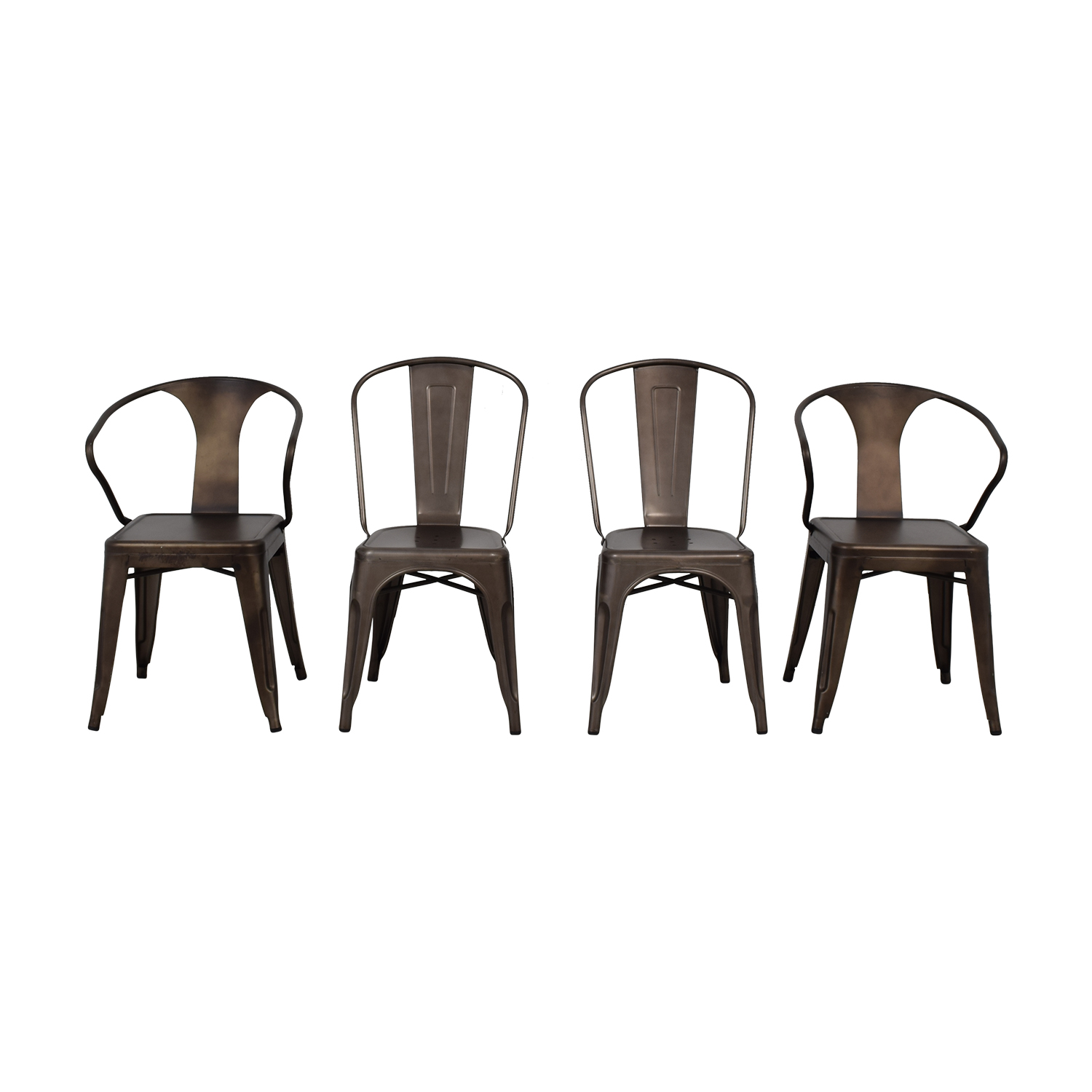 68 Off Tabouret Bronze Metal Bistro Chairs Chairs