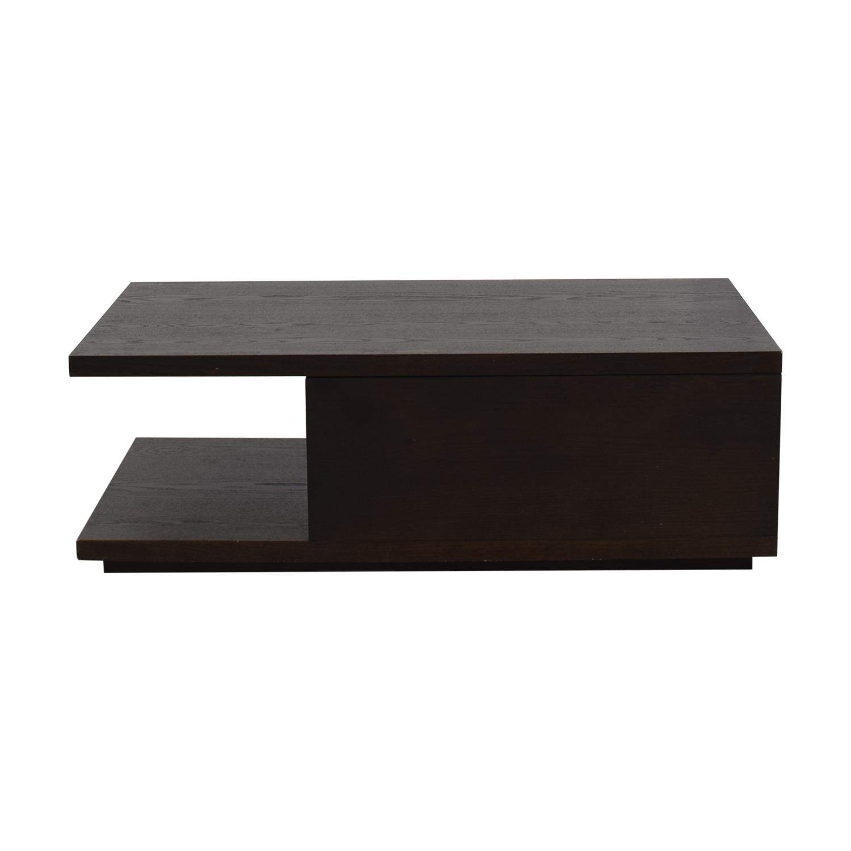 90 off west elm west elm wood storage coffee table tables