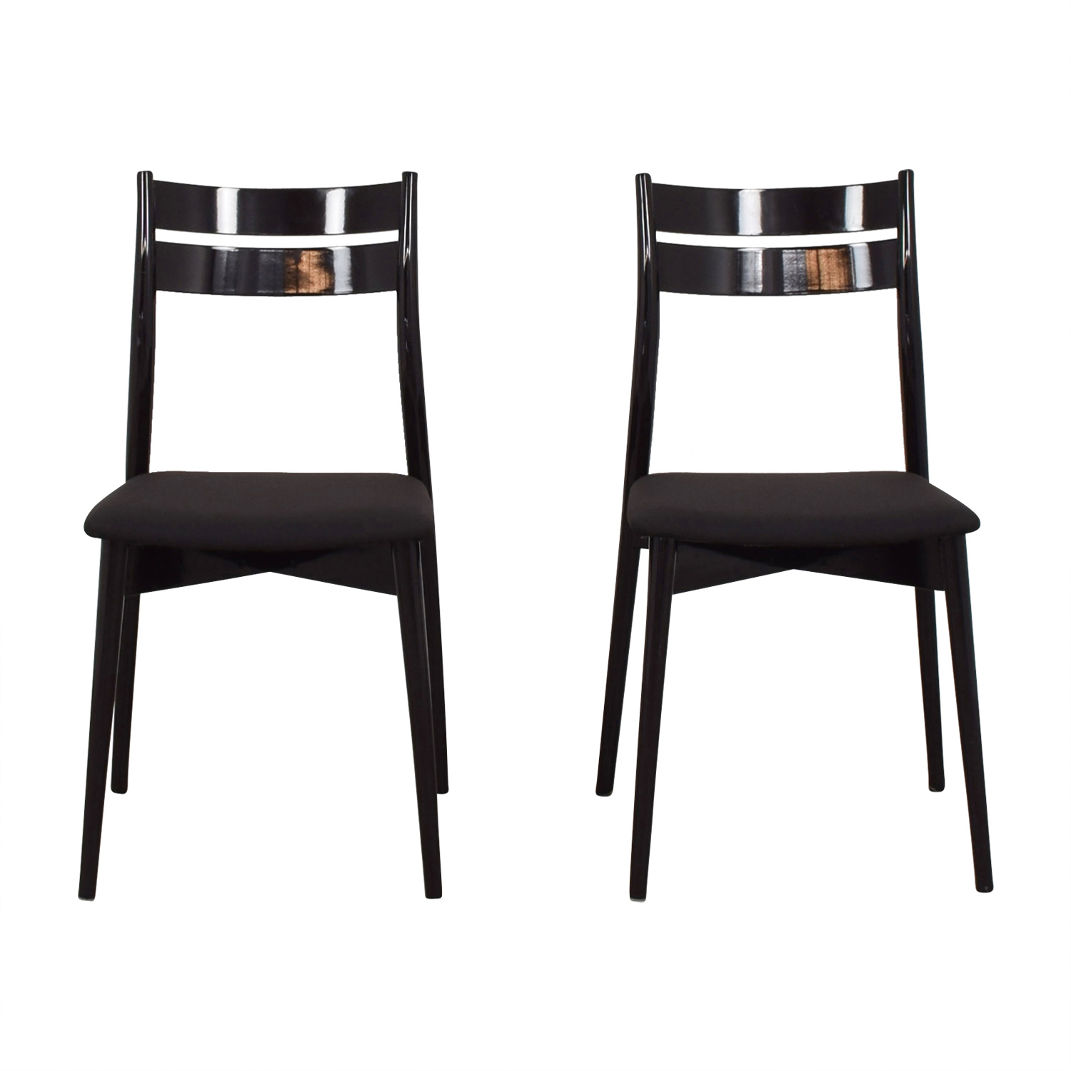 Calligaris Dining Chairs 90 Off Calligaris Calligaris Black Dining Chairs Chairs